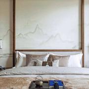 中式风格卧室背景墙装修效果图赏析