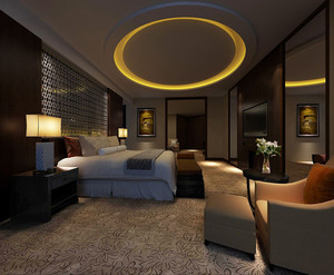 简欧风格度假酒店室内设计效果图赏析