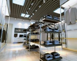 现代简约风格服装店装修设计效果图
