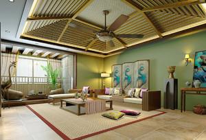 东南亚风格吊顶装修效果图