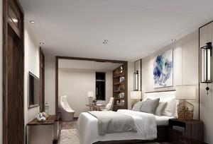 现代商务风格卧室吊顶装修效果图