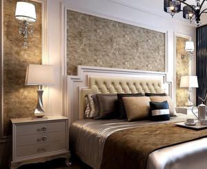 简欧风格卧室背景墙装修设计效果图