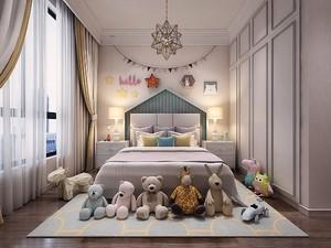 童话风格儿童房吊顶装修效果图