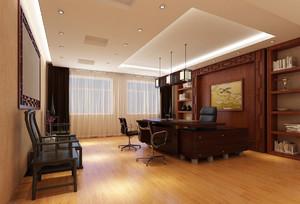 中式风格办公室吊顶装修设计
