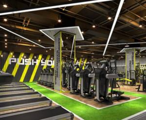 200平都市风格健身房装修效果图