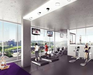现代风格健身房装修设计效果图