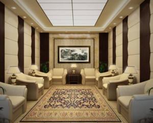 现代中式风格会客厅装修效果图