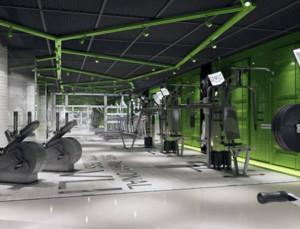 现代都市健身房装修效果图