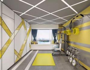 现代自然风健身房装修效果图
