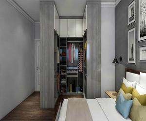 卧室带衣帽间效果图