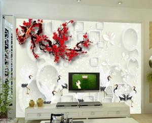 现代中式客厅电视背景墙装修设计效果图