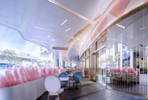 粉色餐厅装修效果图