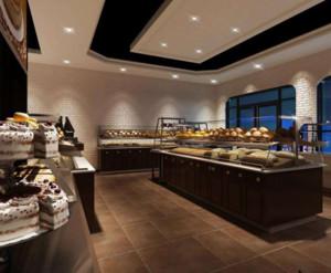 90平米日式风格面包店装修效果图