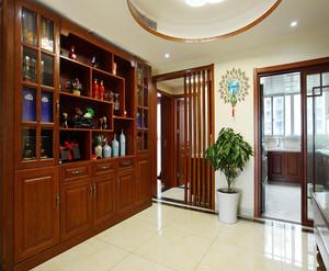 中式大气风格酒柜装修效果图