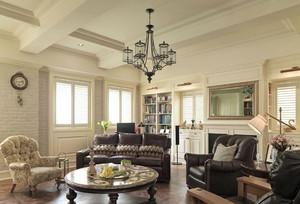 现代美式客厅吊顶装修效果图