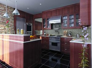 歐式廚房裝修設計效果圖