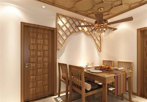 东南亚风格餐厅吊顶效果图