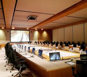 现代会议室装修设计效果图