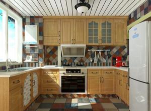 家庭厨房整体橱柜效果图