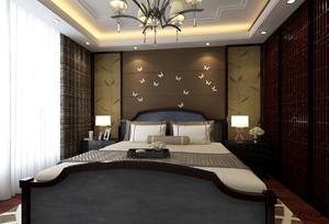 新中式风格卧室吊顶装修效果图