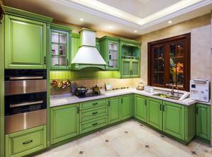 厨房橱柜色彩效果图