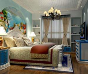 地中海风格卧室窗帘装修效果图赏析