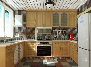 厨房橱柜安装效果图