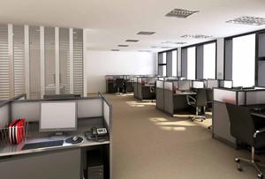 现代风格员工办公室装修案例