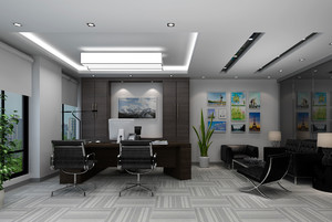 后现代老板办公室设计图