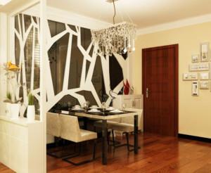 现代简约餐厅背景墙装修设计效果图