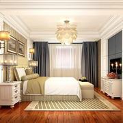 美式梦幻风格卧室吊顶装修效果图