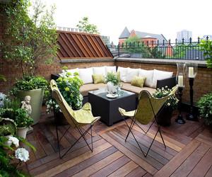 100平方的屋顶花园图
