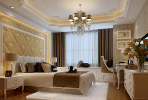 欧式大户型卧室吊顶装修效果图