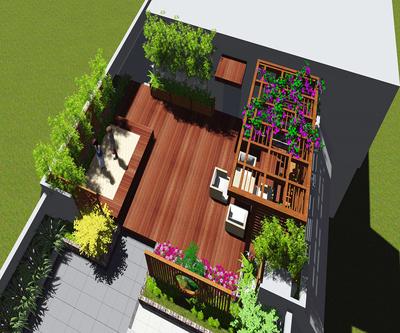 屋顶花园平面设计