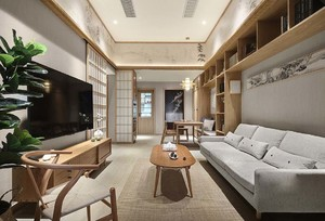 日韩风格客厅吊顶装修效果图