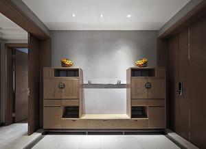 中式风格三居室鞋柜装修
