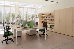 现代风格办公室装修设计图
