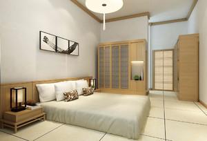 现代日式卧室吊顶装修效果图