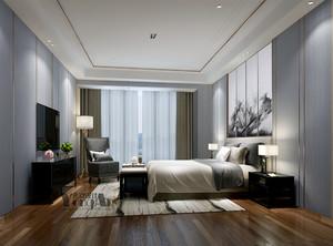 卧室床的放置效果图
