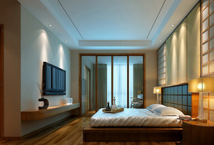日式风格卧室吊顶装修效果图