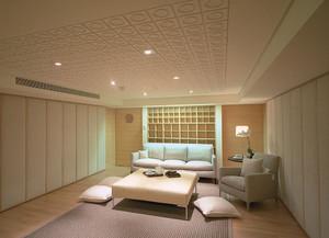 日式吸音棉客厅吊顶装修效果图