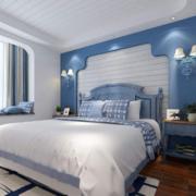 90平米地中海风格卧室背景墙效果图