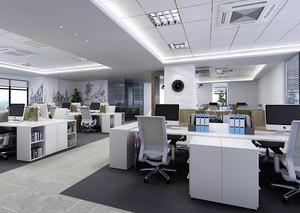 现代员工办公室装修效果图