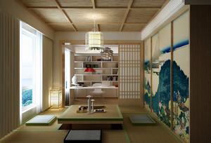 日式书房吊顶装修效果图