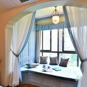 田园卧室飘窗设计效果图