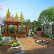 小别墅花园效果图