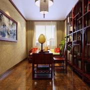 中式书房吊顶装修效果图
