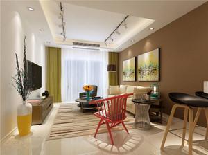 现代客厅射灯吊顶装修效果图