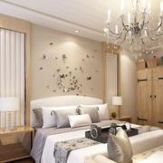 90平现代简约风格卧室背景墙装修效果图