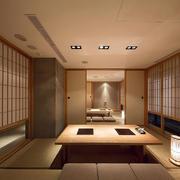 传统日式风格家庭餐厅吊顶装修效果图